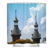 Flight Over The Crescents Shower Curtain