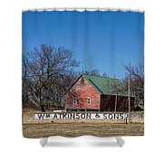 Flint Hills Barn Shower Curtain
