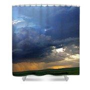 Flint Hills Storm Panorama 2 Shower Curtain