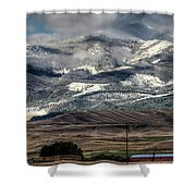 Flint Ridge Range, Deer Lodge, Mt Shower Curtain