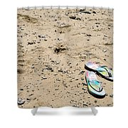 Flipflops Shower Curtain