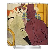 Flirt An Englishman At The Moulin Rouge 1892 Shower Curtain