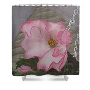 Flirty Begonia Shower Curtain