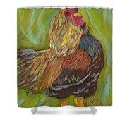 Flirty Hen Shower Curtain