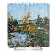 Fll At The Oyster River Shower Curtain