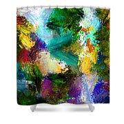 Floating Chair Shower Curtain
