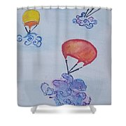 Floating Clouds Shower Curtain