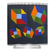 Floating Cubes 2 Shower Curtain