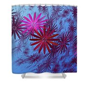 Floating Floral -003 Shower Curtain