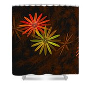 Floating Floral-008 Shower Curtain