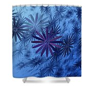 Floating Floral-010 Shower Curtain