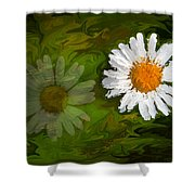 Floating Flower Reflection Shower Curtain