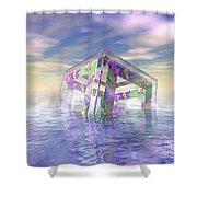 Floating Fractal Shower Curtain