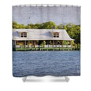 Floating House In La Parguera Puerto Rico Shower Curtain