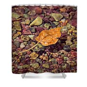 Floating Leaf Shower Curtain