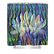 Floating Lotus - Gratitude Shower Curtain