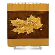 Floating Maple Leaf Txt Shower Curtain