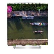 Floating Market Aerial View Shower Curtain by Pradeep Raja PRINTS