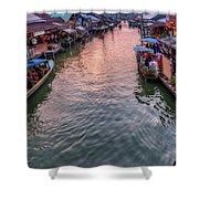 Floating Market Sunset Shower Curtain