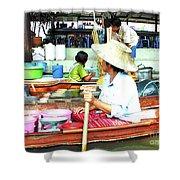 Floating Market Thailand Shower Curtain