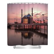 Floating Mosque Shower Curtain
