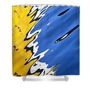 Floating On Blue 33 Shower Curtain