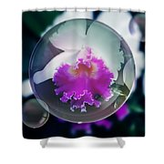 Floating Orchid Shower Curtain