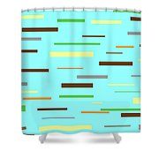 Floating Planks Shower Curtain