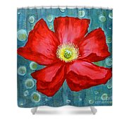 Floating Poppy Shower Curtain