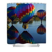 Floating Reflections Shower Curtain