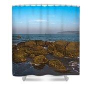 Floating Rocks Shower Curtain