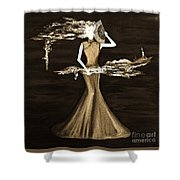 Floating Scent Shower Curtain