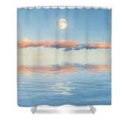 Floating Through Blue Shower Curtain