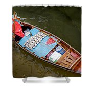 Floating To Work Shower Curtain