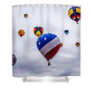 Floating Upward Shower Curtain