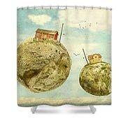 Floating Village Shower Curtain