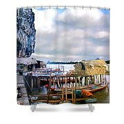 Floating Village Thailand Shower Curtain