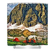 Floe Lake Shower Curtain