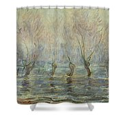 Flood In Giverny Shower Curtain
