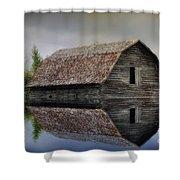 Flooded Barn Shower Curtain