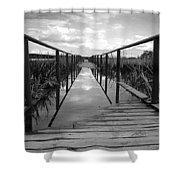 Flooded Bridge Shower Curtain