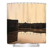Flooded Defences Shower Curtain