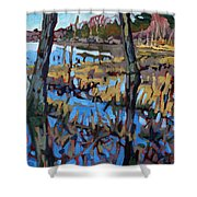 Flooded Land Shower Curtain