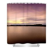 Flooded Sunset Shower Curtain