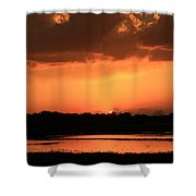 Sunset After A Spring Storm Shower Curtain