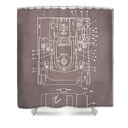 Floppy Disk Assembly Patent Drawing 1a Shower Curtain