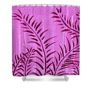 Flora Fauna Tropical Abstract Leaves Painting Magenta Splash By Megan Duncanson Shower Curtain