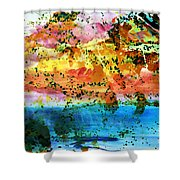 Rustic Landscape Abstract  D2131716 Shower Curtain