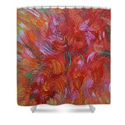 Floral Abstract, Sunshine Bouquet Shower Curtain