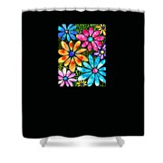 Floral Art - Big Flower Love - Sharon Cummings Shower Curtain